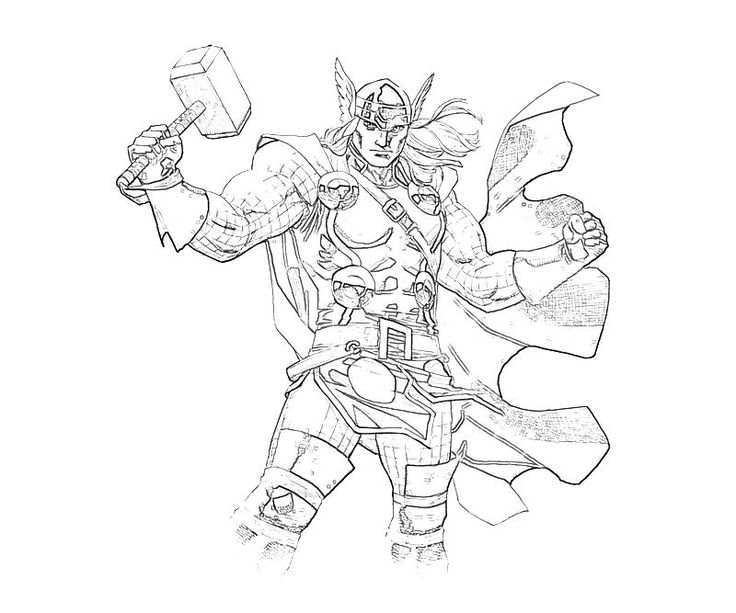 165 best images about superheroes coloring pages on for Marvel thor coloring pages