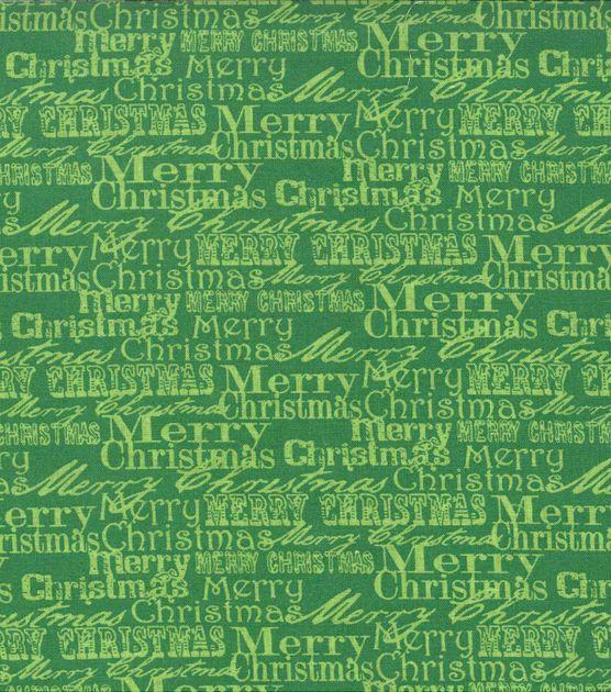 Noel Collection-Christmas Noel Merry Christmas Words Green: