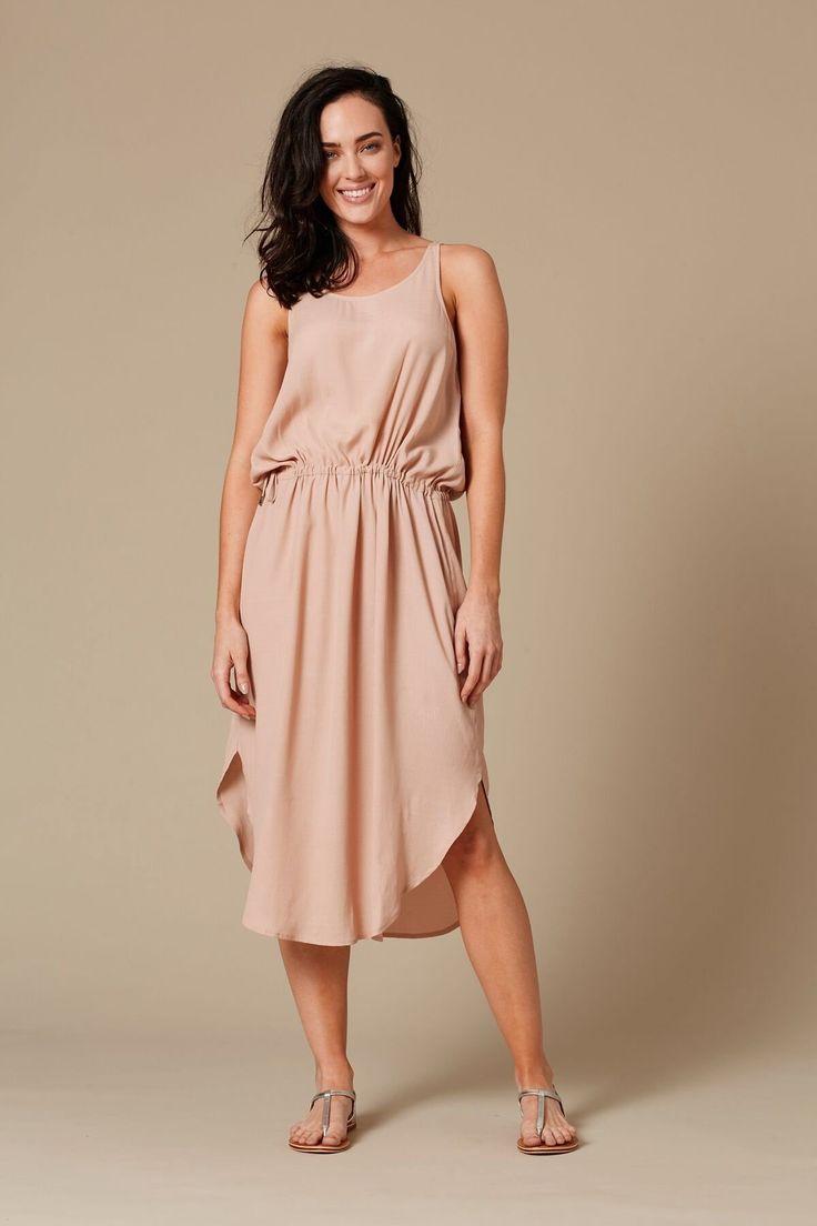 Eb & Ive - Moala Tie Side Dress  Sahara
