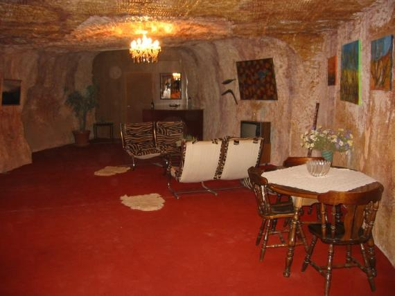 House in Coober Pedy mining town in SA, Australia...Underground
