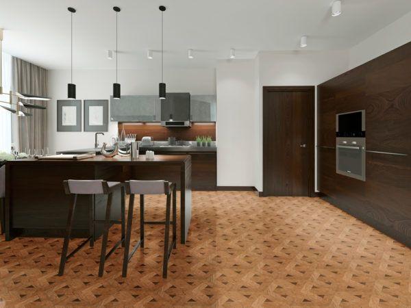 Modern Hexagon Wood Parquet Flooring Wood Tiles By Oshkosh Designs Modern Kitchen Bar Wood Parquet Flooring Parquet Flooring