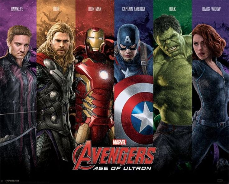 Avengers Age of Ultron - Team - Official Mini Poster