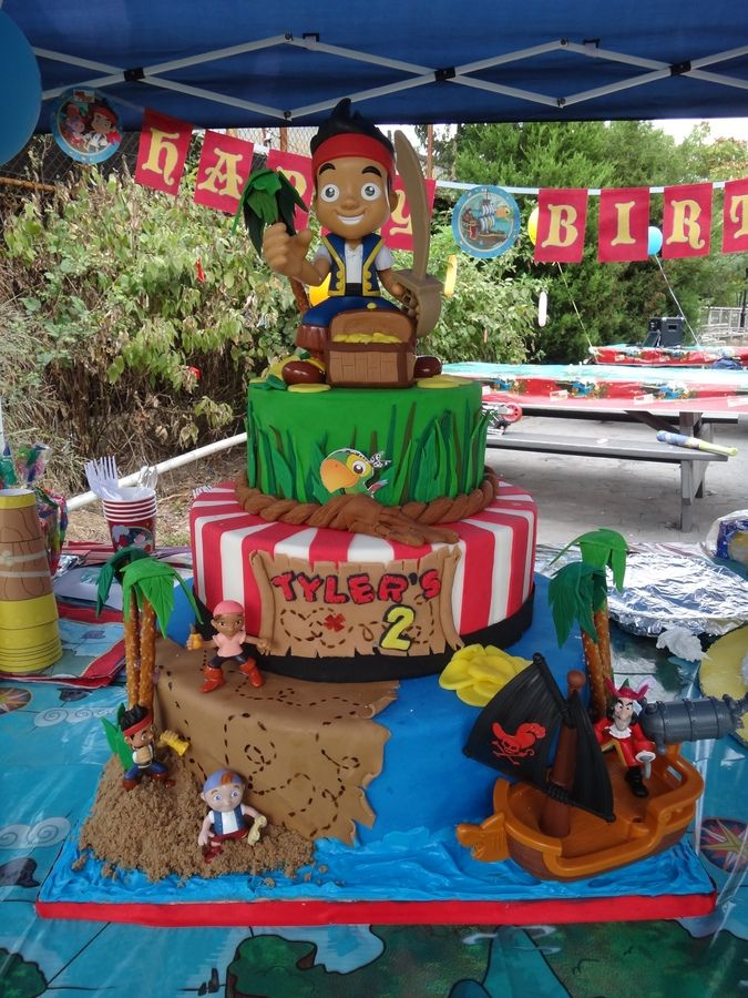 Jake & Neverland Pirates Cakes on Pinterest  Birthday cakes, Cake ...