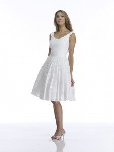 Cotton wedding dress- this is similar to what my dress will look like when I take part of the skirt of at the reception. :)
