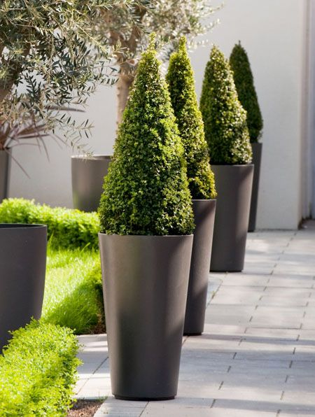 Alto Tall Round Tapered Outdoor Planter Pot Outdoor