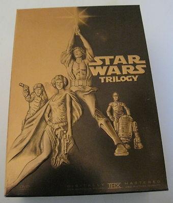 Original Star Wars Trilogy DVD 4 Disc Set Pan Scan 2004 Gold Box Edition 024543123453 | eBay