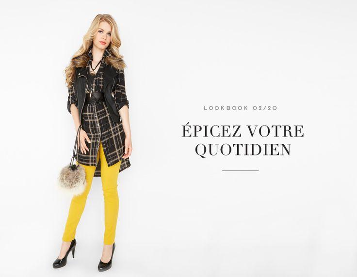 ÉPICEZ VOTRE QUOTIDIEN  //  CHIC AND SPICY #chic #mustard #skinny #jean #soft #blouse #tartan #yellow #tunic #jaune #moutarde #fur #carreaux #mode #glam #fashion #femme #women #lookbook #fw16