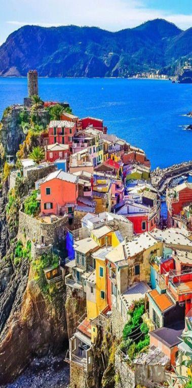 colorful village Vernazza in Cinque Terre Italy