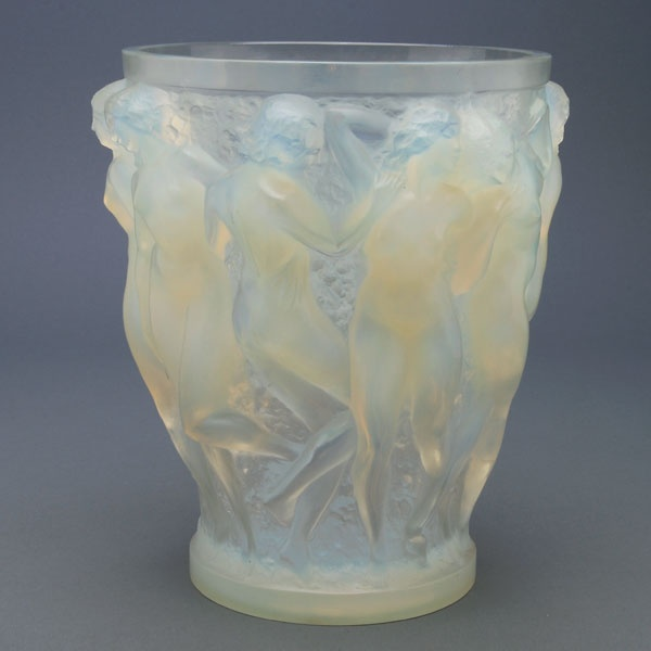 R. Lalique Opalescent Bacchantes Vase Auction Highlights