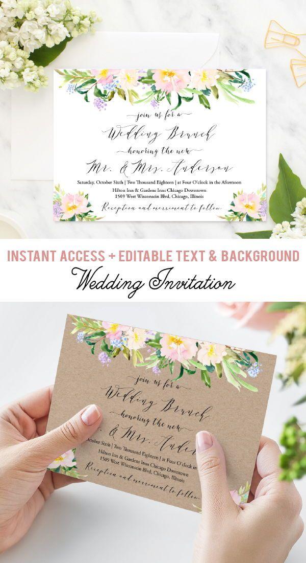 Wedding Brunch Invitation Floral Bridal Brunch Invites Etsy Wedding Brunch Invitations Bridal Brunch Invitations Free Bridal Brunch Invitations