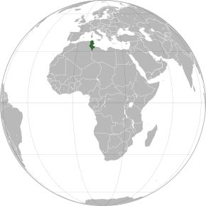 Amplasarea Tunisiei