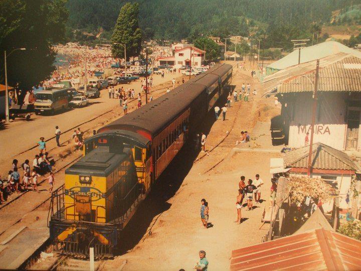 Foto antigua de la Estación de Trenes Dichato