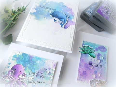 Congrats: Distress Oxides Two Ways with Guest Designer Kelly Latevola | Pink and Main Blog