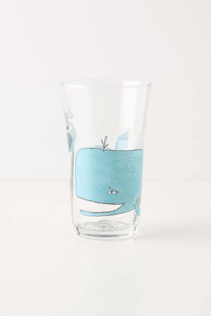 """Menagerie Juice Glass  - Whale   """"It's okay!"""" Anthropologie"""