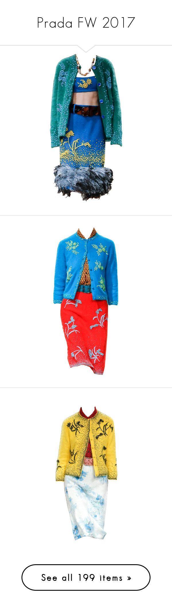 """Prada FW 2017"" by sella103 ❤ liked on Polyvore featuring dresses, prada, knee-length, multicoloured, no sleeve dress, multi coloured dress, multi colored dress, colorful dresses, multicolor dresses and vegan dresses"
