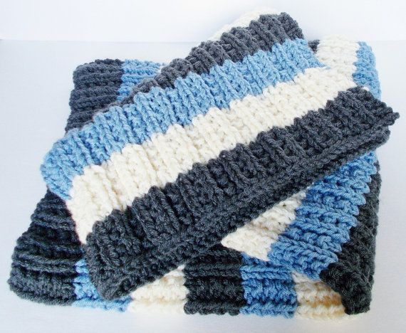 Hand Knit Baby Blanket Girl or Boy Ready To Ship Car by VeryCarey