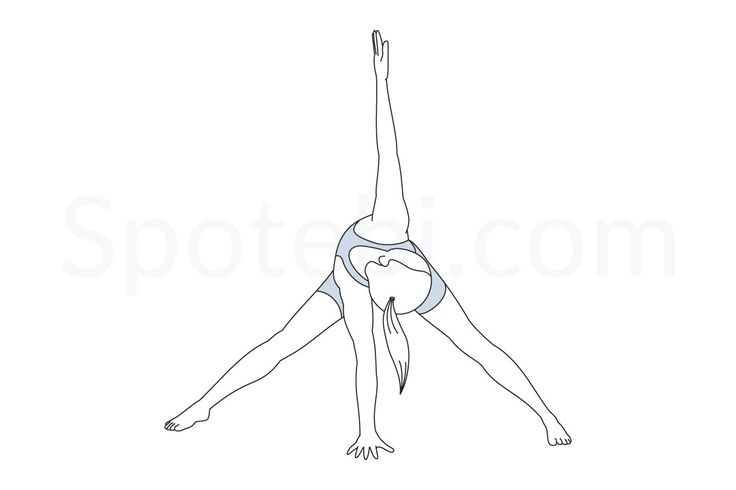 Wide Legged Forward Bend Twist Pose   Yoga poses, Yoga ...