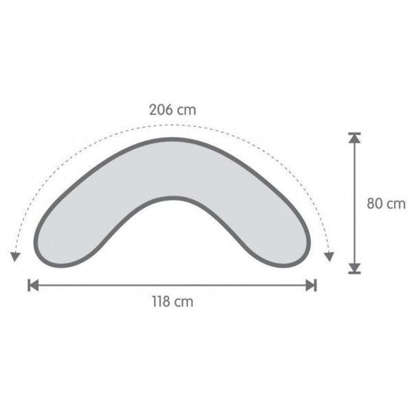 Almofada de Amamentação Grande Stela Cinzenta/Mota Cambrass 0m+ - Amamentação - Bebitus