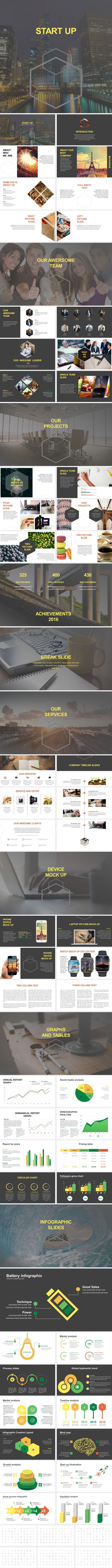 Start Up Business Keynote Template - Business Keynote Templates