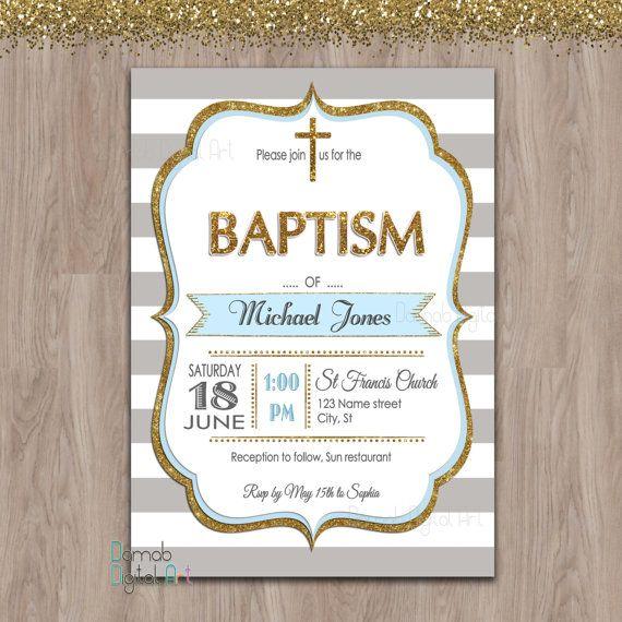 Inspirate con esta preciosa invitación para el bautizo de tu niño. #bautizo #invitación