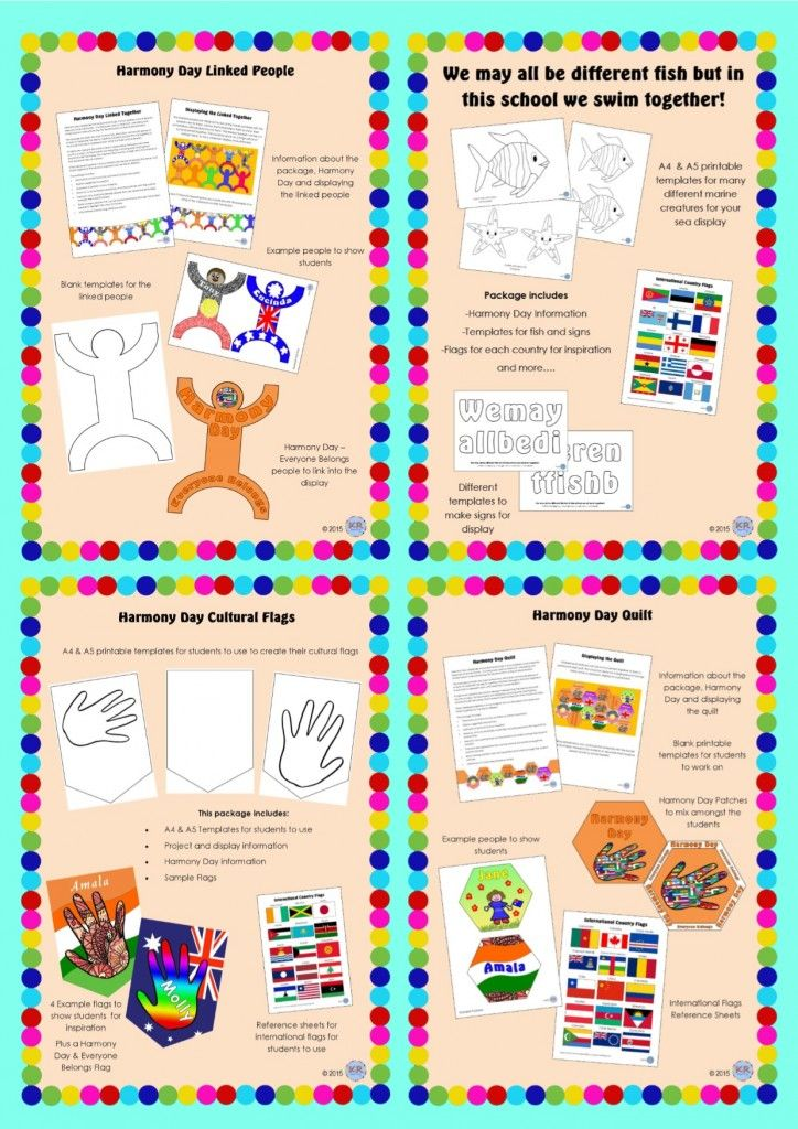 Harmony Day Mega Bundle by KR Learning