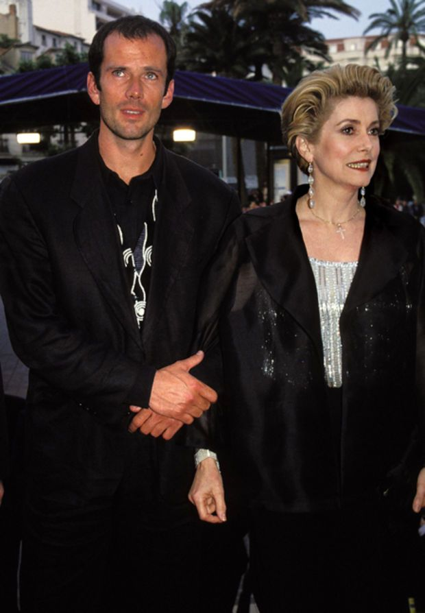 Catherine Deneuve with her son Christian Vadim in 1994