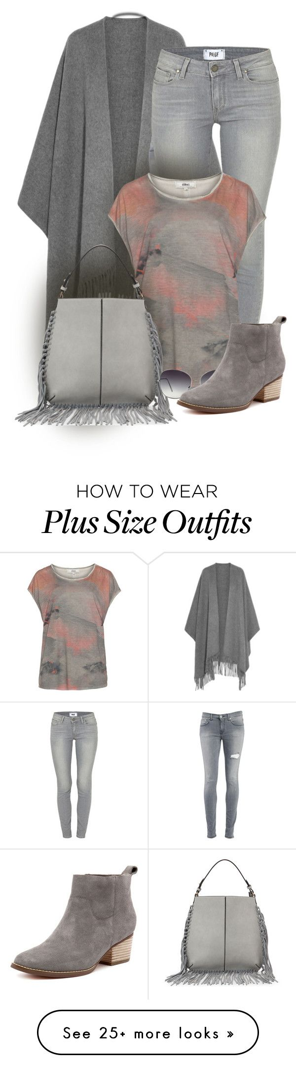 """""""Grey Outfit"""" by seahag2903 on Polyvore featuring Trilogy, Acne Studios, Dondup, Paige Denim, Zizzi, Moda Luxe and Oliver Peoples"""