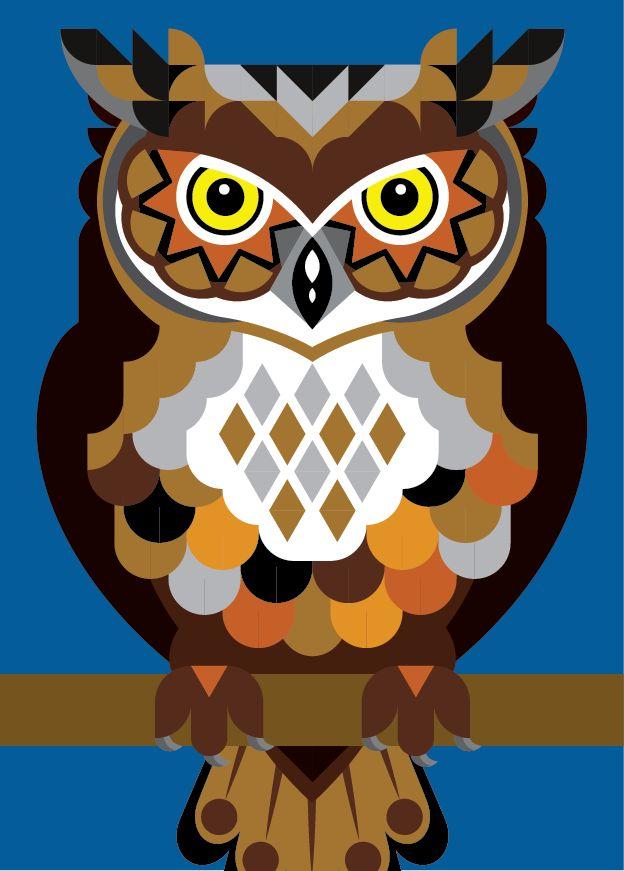 Owl by joanna webster from sticker studio
