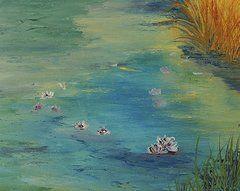 Featured Art - Lily Pond  by Bev Alldridge