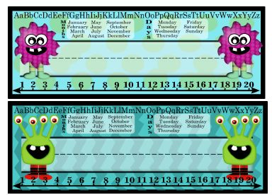 Purple And Green Monster Name Plates Student Name Plates Student