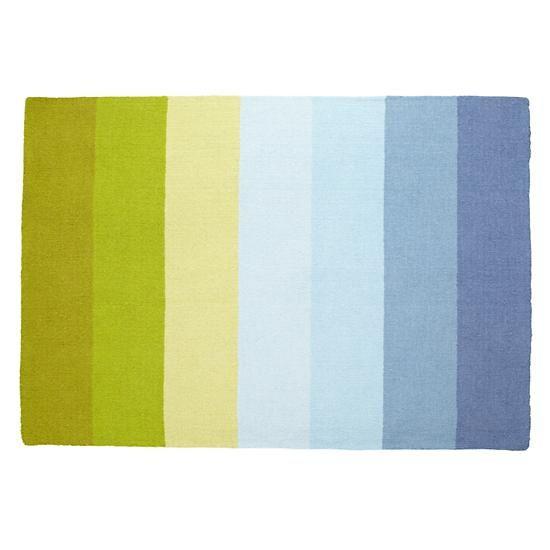8 x 10' Broad Stripe Rug (Blue-Green)