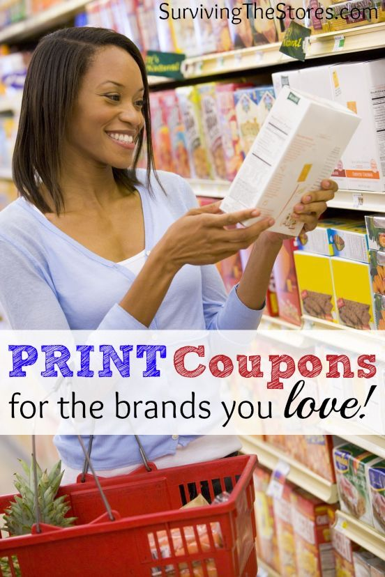 Easily print coupons right from your computer for lots of your favorite brands!  Almost all grocery and drug stores accept these coupons and there are new coupons to print every day!!