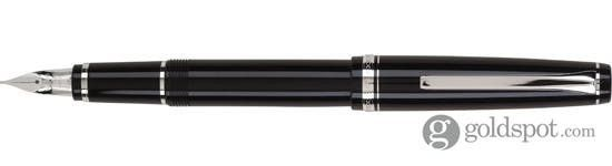 Namiki Falcon Black/Rhodium Trim Soft Flexible Nib Medium Point Fountain Pen