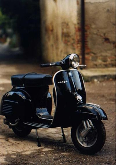 All Black Vespa with gold trim!!!