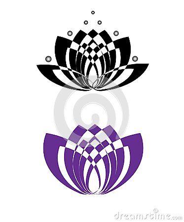 Flower lotus logo isolated vector illustration.