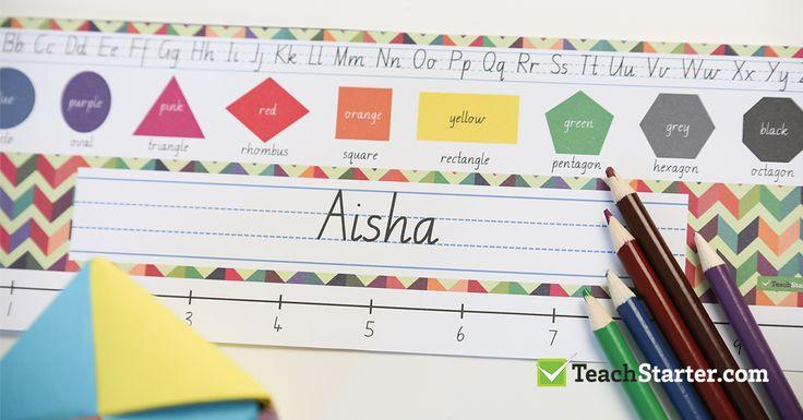 custom primary school student deskplates