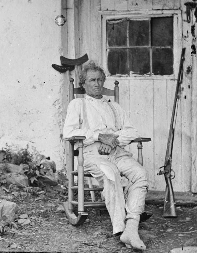 John Burns. Veteran of the War of 1812 and Civil War