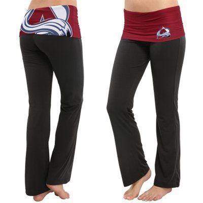 Women's Colorado Avalanche Black Sublime Knit Lounge Pants