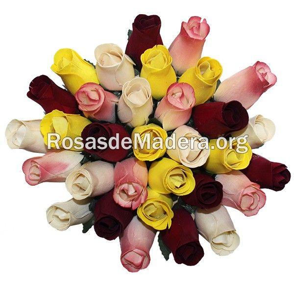 Ramo de rosas #rustico http://www.rosasdemadera.org/ramos-de-rosas/94-ramo-de-rosas-rustico.html