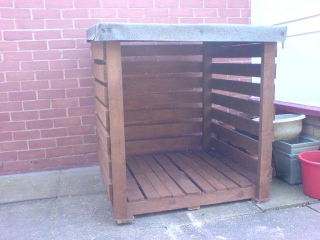 Muebles gratis con palets hecho para el jard n un - Muebles terraza con palets ...