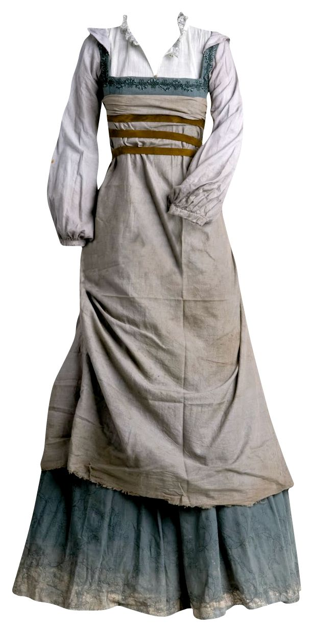 detalle para envejecido Para la película Lope, Tatiana Hernández diseñó las prendas de la servidumbre basándose en las pinturas y la literatura del siglo XVII, profesores universitarios y asesores.
