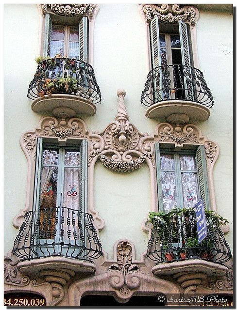 Small balconies  Barcelona (Spain).