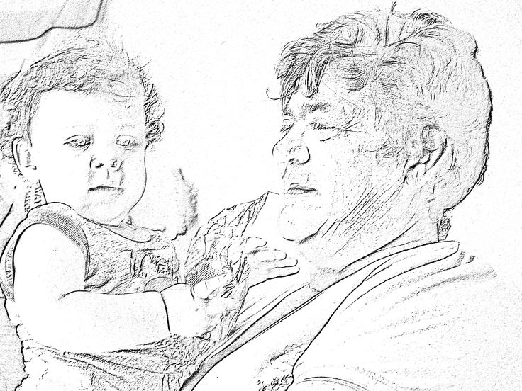 Nana and Bella sketched by Coral Photo draw