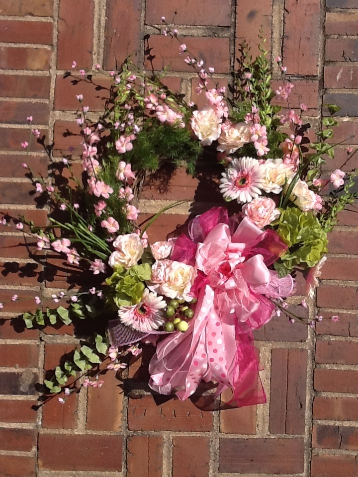Spring Wreaths Deco Mesh Front Doors