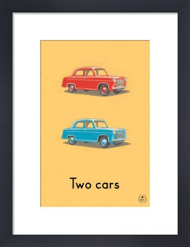 Two cars by Ladybird Books' - art print from King