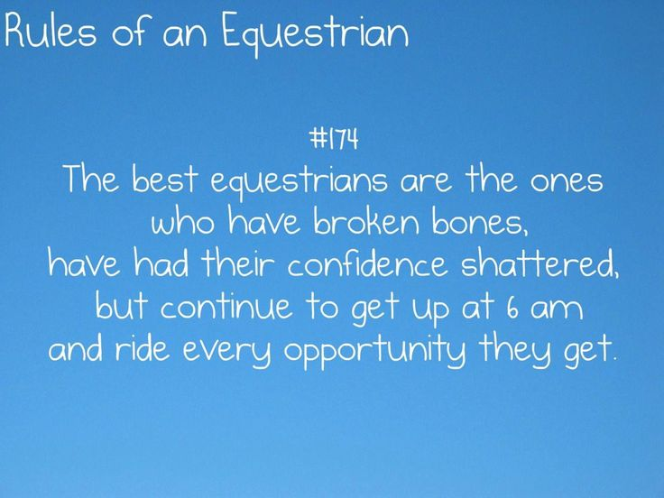Rules of an Equestrian #equestrianfashion – Equestrian quotes