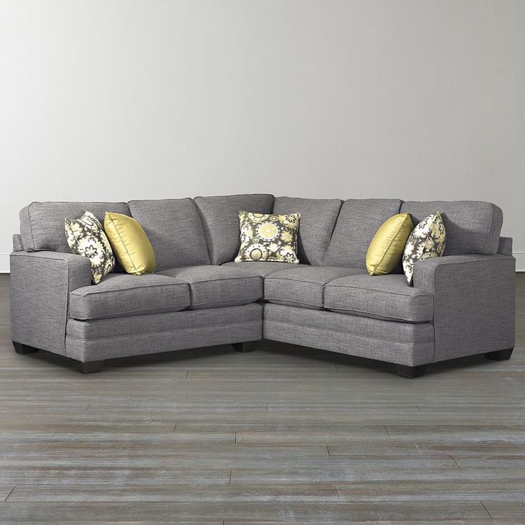 Custom Upholstery XL L-Shaped Sectional : gray l shaped sectional - Sectionals, Sofas & Couches