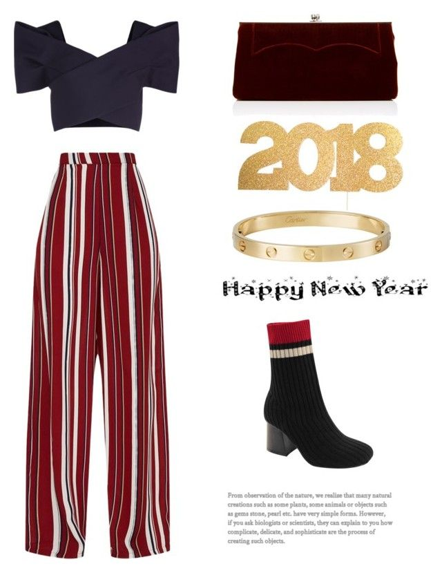 """Happy New Year. With love Sara xx"" by saracreafash on Polyvore featuring moda, Delpozo, Victoria Beckham y Cartier"