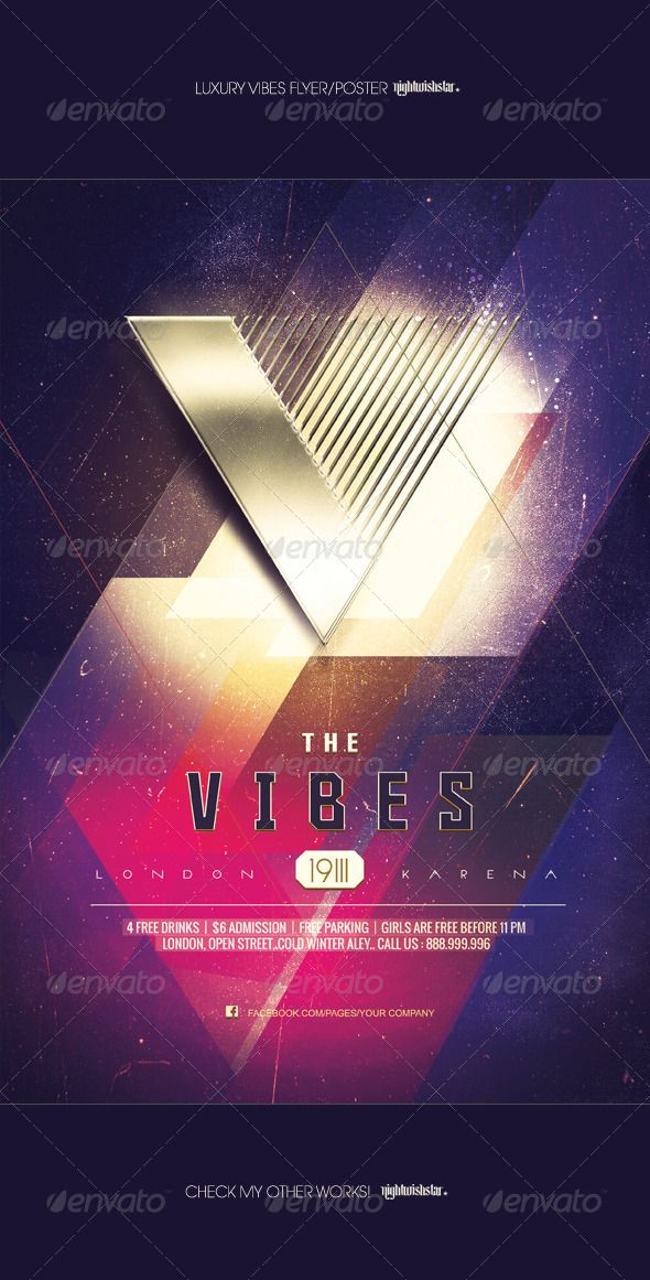 Gold Vibes Luxury Party Poster/Flyer - Clubs & Parties Events
