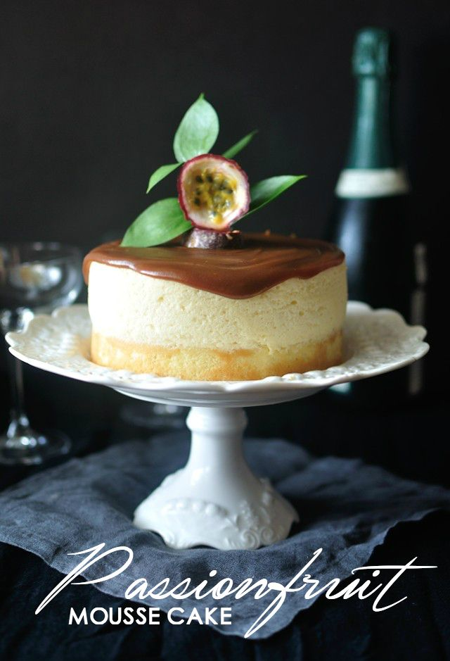 Passionfruit Mousse Cake